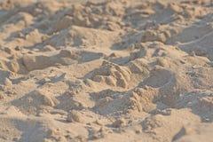 Primer de la macro de los granos de la playa de Sandy foto de archivo libre de regalías