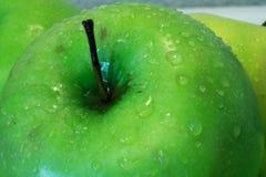Primer de la manzana verde Imagen de archivo