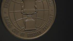 Primer de la medalla de oro Medalla de la lucha almacen de video