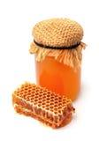Primer de la miel y del panal Imagen de archivo libre de regalías