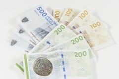 Moneda danesa Imagenes de archivo