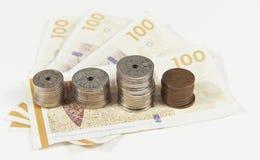 Moneda danesa Imágenes de archivo libres de regalías