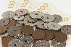Moneda danesa Imagen de archivo libre de regalías