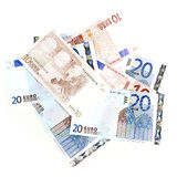 Moneda de la zona euro Imágenes de archivo libres de regalías