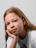 Primer de la muchacha pre-adolescente Foto de archivo