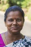 Primer de la mujer del Tamil de la cara feliz Imagen de archivo libre de regalías