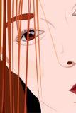 Primer de la mujer joven de la cara Imágenes de archivo libres de regalías