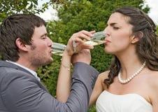 Primer de la novia y del novio fotografía de archivo libre de regalías