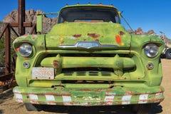 Primer de la parte frontal de un camión del vintage Fotos de archivo