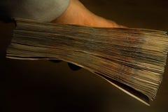 Primer de la rublo del dinero fotografía de archivo