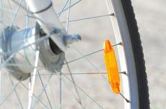 Primer de la rueda de bicicleta Imágenes de archivo libres de regalías