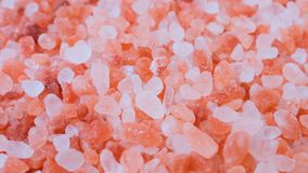 Primer de la sal del rosa de Crystal Himalayan almacen de metraje de vídeo
