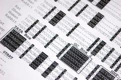Primer de la secuencia de la DNA fotografía de archivo