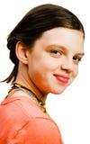 Primer de la sonrisa de la muchacha Imagen de archivo