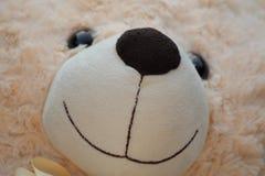 Primer de la sonrisa del oso de la felpa Fotos de archivo