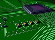 Primer de la tarjeta de circuitos Imágenes de archivo libres de regalías