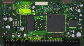 Primer de la tarjeta de circuitos electrónicos imagen de archivo