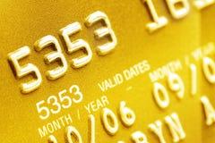 Primer de la tarjeta de crédito Imágenes de archivo libres de regalías
