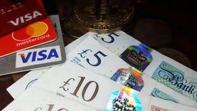 Primer de la tarjeta Visa de Mastercard imagen de archivo libre de regalías