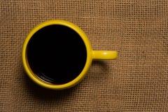 Primer de la taza de café - visión superior Imágenes de archivo libres de regalías