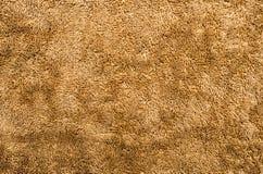 Primer de la tela de la felpa de Brown Fotografía de archivo