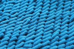 Primer de la textura azul de la alfombra Fotos de archivo