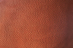 Primer de la textura de cuero del fútbol Fotos de archivo