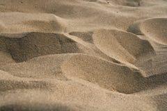 Primer de la textura de la arena fotografía de archivo