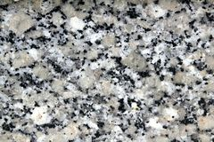 Primer de la textura de la piedra del negro del blanco gris del granito Imagen de archivo libre de regalías