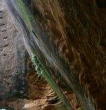 Primer de la textura del corte de la roca de una isla fotos de archivo libres de regalías
