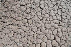 Primer de la textura del suelo seco imágenes de archivo libres de regalías