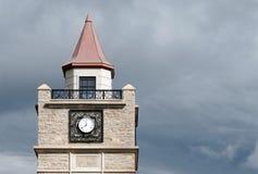 Primer de la torre de reloj en Niagara Falls foto de archivo libre de regalías