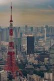 Primer de la torre de Tokio en Tokio imagen de archivo