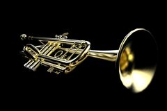 Primer de la trompeta Fotos de archivo