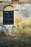 Primer de la ventana vieja en Colonia, Uruguay fotografía de archivo