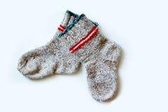 Primer de lana de los calcetines Foto de archivo