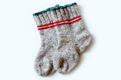 Primer de lana de los calcetines Fotos de archivo libres de regalías