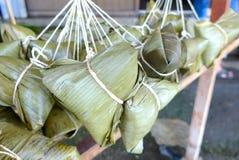 Primer de las bolas de masa hervida del arroz Fotografía de archivo libre de regalías