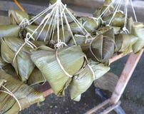 Primer de las bolas de masa hervida del arroz Imagen de archivo libre de regalías