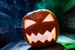 Primer de las calabazas para Halloween Fotografía de archivo libre de regalías