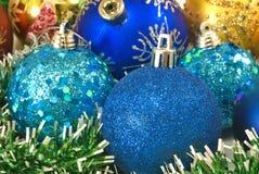 Primer de las decoraciones de la Navidad Fotografía de archivo
