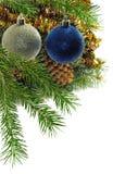 Primer de las decoraciones de la Navidad Imagen de archivo