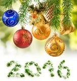 Primer de las decoraciones de la Navidad de la imagen Imagen de archivo