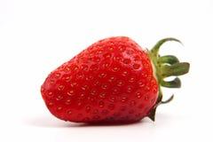 Primer de las fresas en el fondo blanco Imagen de archivo