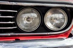 Primer de las linternas del coche Imagenes de archivo