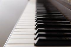 Primer de las llaves de un piano de cola Fotos de archivo libres de regalías
