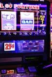 Primer de las máquinas tragaperras en Las Vegas Imágenes de archivo libres de regalías