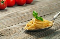 Primer de las pastas italianas Imagenes de archivo