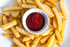 Primer de las patatas fritas Fotografía de archivo libre de regalías