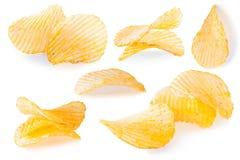 Primer de las patatas fritas aislado Fotografía de archivo libre de regalías